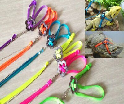 1pc Reptile Lizard Gecko Bearded Dragon Harness and Leash Adjustable Strap UK