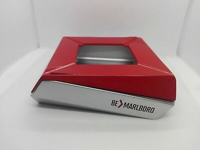 Marlboro Advertising Square Metal Ashtray - Red & Silver Color