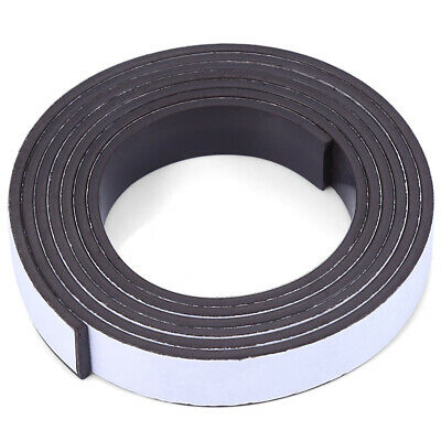 Self-Adhesive Magnetic Tape Roll Flexible Crafts Sticky Magnet Strip 10 X1.5mm