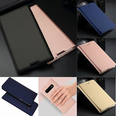 For Samsung Galaxy S10e S10 Plus Slim Shockproof Magnetic Leather Case Cover