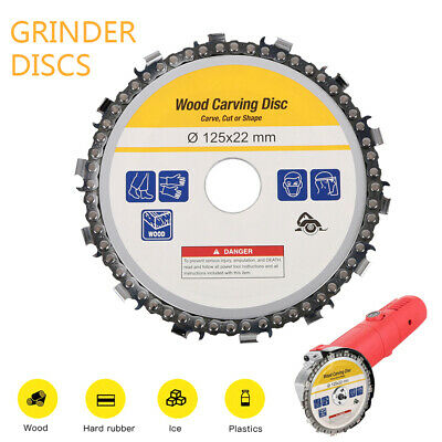 Angle Grinder Chain Saw Disc Wood 125mm  Cutting 14 Tooth Chainsaw Disc New