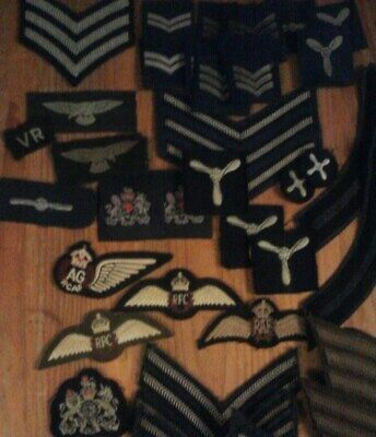 MILITARIA COLLECTABLES BRITISH, Badges, RAF, WW2, King & Queens Crown, RAF  Wings