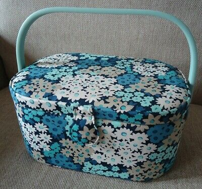 BNWT- Large Fabric Covered Sewing Box Camomile Lawn Design - by John Lewis