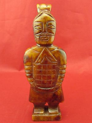Chinese natural old jade hand carved ancient figure beautiful jade B1075