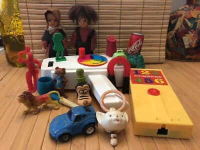 Vintage Junk Drawer Toys Prizes Charms Rare Items Homg King Fisher Price Toys