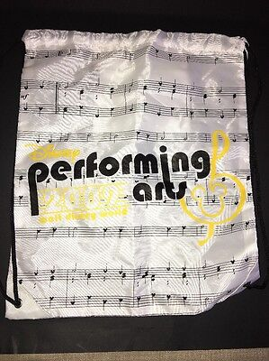 28f494d0a11 Walt Disney World WDW Performing Arts 2009 Drawstring Tote Bag. White.  Mickey
