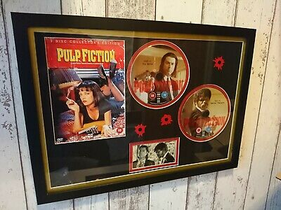 Pulp Fiction (DVD, 2002, 2-Disc Set) Frame and Mounted Display item