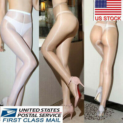 Ultra-thin 1D Shiny High Gloss Pantyhose Crotch/Crotchless Tights Body Stockings