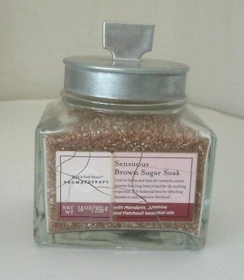 Bath & Body Works Aromatherapy Sensuous Brown Sugar Soak 14 oz.