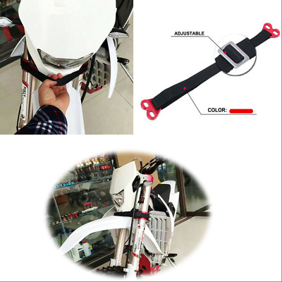 Universal 120-580mm Adjustable Front CNC Motorcycle Rescue Strap Pull Sling Belt