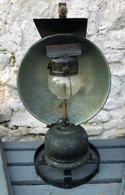 Very Rare Early Railway Tilley Lamp With Carrying Handle