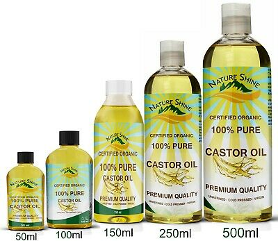 Organic Castor Oil Cold Pressed Aromatherapy Carrier Oil Hair Skin Nails Body