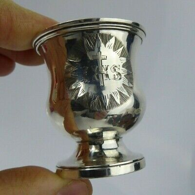William IV Silver Cup Holy Communion Set London 1836 Charles Reily George Storer