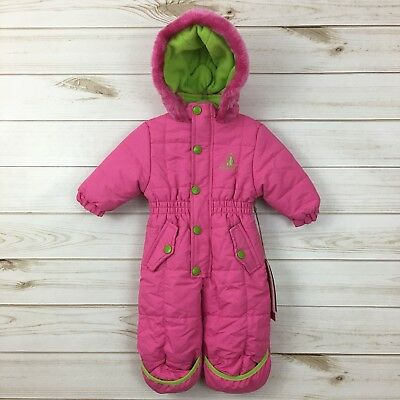 d84e872e3 NEW RUGGED BEAR Baby Girl Pink Hooded Snowsuit. Size 3-6M.