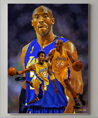 Kobe Bryant LA Lakers Los Angeles Art 1 NBA Basketball 8x10-48x36 CHOICES