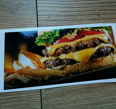 "Burger Hot Dog Van Catering Full Colour Vinyl Stickers/Graphic 7"" x 3.4"""