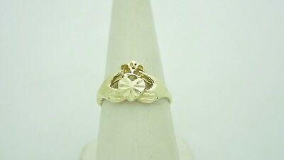 Solid 14k Gold Irish Claddagh Promise Engagement Wedding Ring | Size 8 R567