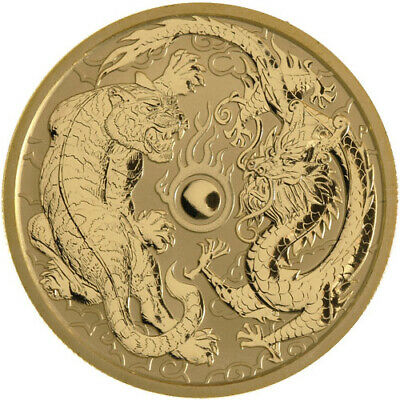 ON SALE! 2019 1 oz Australian Dragon and Tiger Gold Coin (BU)