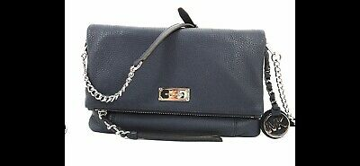 a5dcc3d4ed10 MICHAEL KORS CORINNE Messenger/Crossbody Pebbled Leather Bag NAVY $248