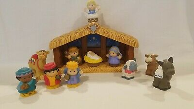 Fisher Price A Christmas Story Little People Nativity Manger 12