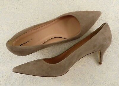 2a6ffb64b5 NEW J. CREW Retail $198 DULCI SUEDE LEATHER KITTEN HEELS MINK GRAY SIZE 9  ITALY