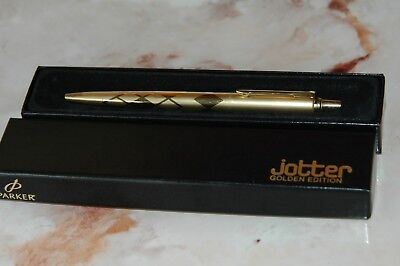 Captivant Stylo Bille Parker Jotter Golden Edition  Neuf De Stock G205
