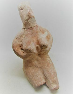 Scarce Circa 6000Bc Ancient Tel Halaf Terracotta Fertility Figure