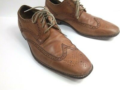 3fe5bf48194 Cole Haan Air Giraldo Mens 10.5 Wingtip Tan Leather British Oxfords Shoes  C09303