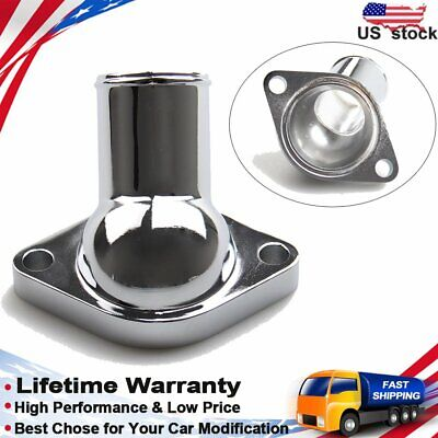 New Big/Small Block Chrome Plated O-Ring Water Necks 2660 Steel 15° For Chevy US