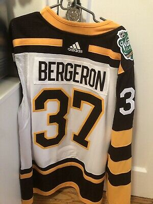 size 40 b984f 53e6e PATRICE BERGERON BOSTON Bruins Winter Classic Adidas Jersey Size 56 New W/  Tags