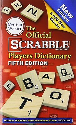 Official Scrabble Players Dictionary, New 5th Edition, Paperback, Copyright 2014