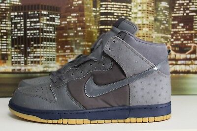 factory authentic 96640 51bc3 Nike Dunk High Mita Deluxe LT Graphite Grey Blue 2005 Sneakers Size 11.5