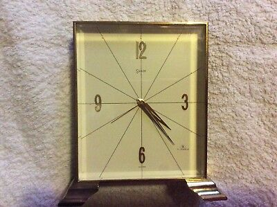 Stunning Quality VINTAGE 1960's SWISS SWIZA 7 JEWELS BRASS ALARM CLOCK