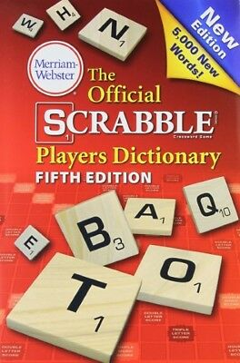 Official Scrabble Players Dictionary, 5th Edition Hardcover Merriam-Webster 2014