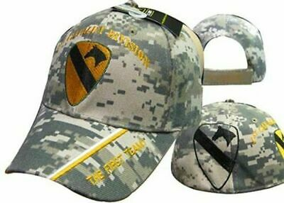 c7e28ca01c122 US ARMY 1ST Cavalry Division Camo The First Team Shadow Cap Hat ...