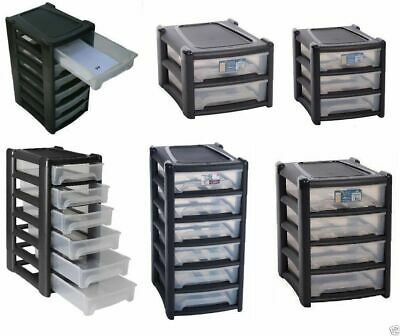 A4  4x DRAWER PLASTIC STORAGE UNIT FOR HOMES OR OFFICE DRAWERS ORGANISER