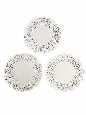 150 ct.- 4 inch White Paper Lace Table Doilies 3 different patterns 50 of each