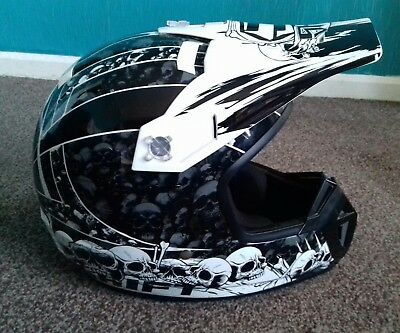 Shift Agent Skeletons Motorcycle/Dirt Bike/Quad Bike Helmet