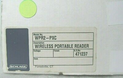 Schlage WPR2-PXC Wireless Portable Reader [CTNO]