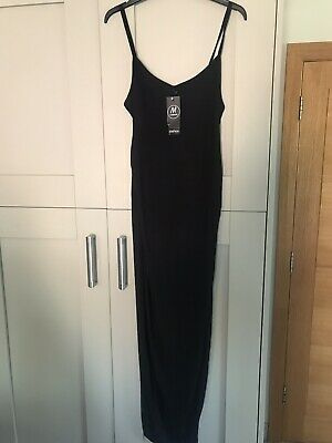 Boohoo Maternity Black Maxi Dress Size 8 BNWT
