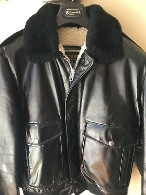 c295269af GAP MENS 100% Leather Sherpa Lined Insulated Bomber Leather Jacket ...