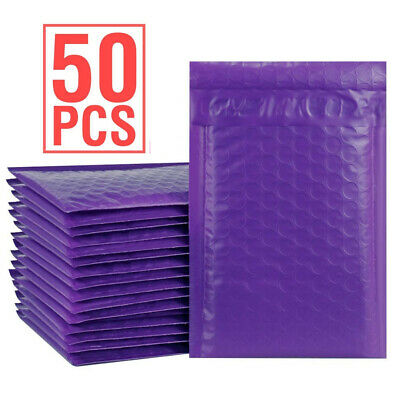 Durable Padded Envelopes 4x8 Bubble Wrap Mailers Poly Small Bags Purple Jewelry
