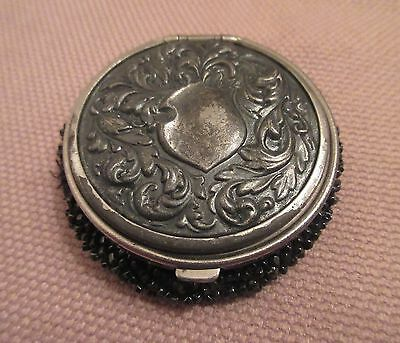 antique 1890 ornate Victorian beaded metal change coin bag box wallet case old