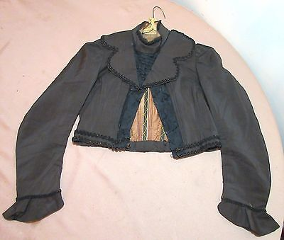 antique 1800's handmade Edwardian Victorian women lady bodice jacket top blouse