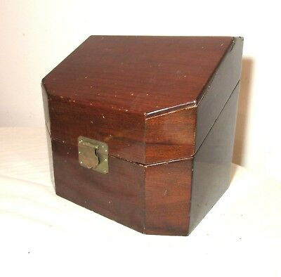 antique handmade wooden wood brass Chinese dresser jewelry vanity box