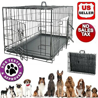 Large Dog Crate XXL Kennel Extra Huge Folding Pet Wire Cage Giant Breed Size Cat