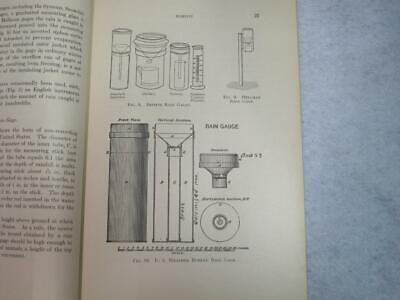Measurement of Rain & Snow by Robert E Horton 1919 Guages - Tables - Formulas