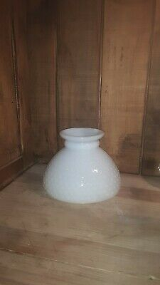 "Vintage White Milk Glass Hurricane Lamp Shade Globe Hobnail 7-7/8"" Diameter"