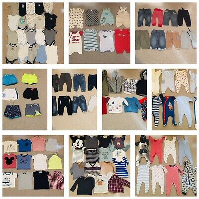 Huge Baby Boys Age 3/6 Months Clothes Bundle 100+ Items Ted Baker Nike Next
