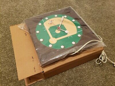 1970 World Series Clock - New In Box w/ Papers